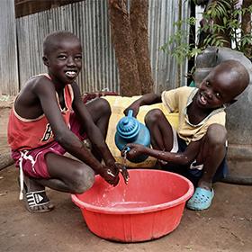 Soap and sanitation supplies